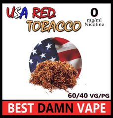 USA Red Tobacco E-Liquid - Best Damn Vape - 2