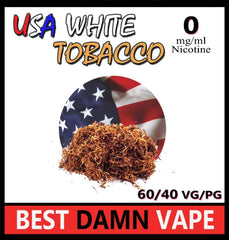 USA White Tobacco E-Liquid - Best Damn Vape - 2