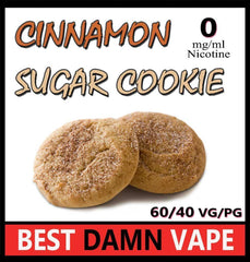 Overstock 12mg Cinnamon Sugar Cookie E-Liquid - Best Damn Vape - 3