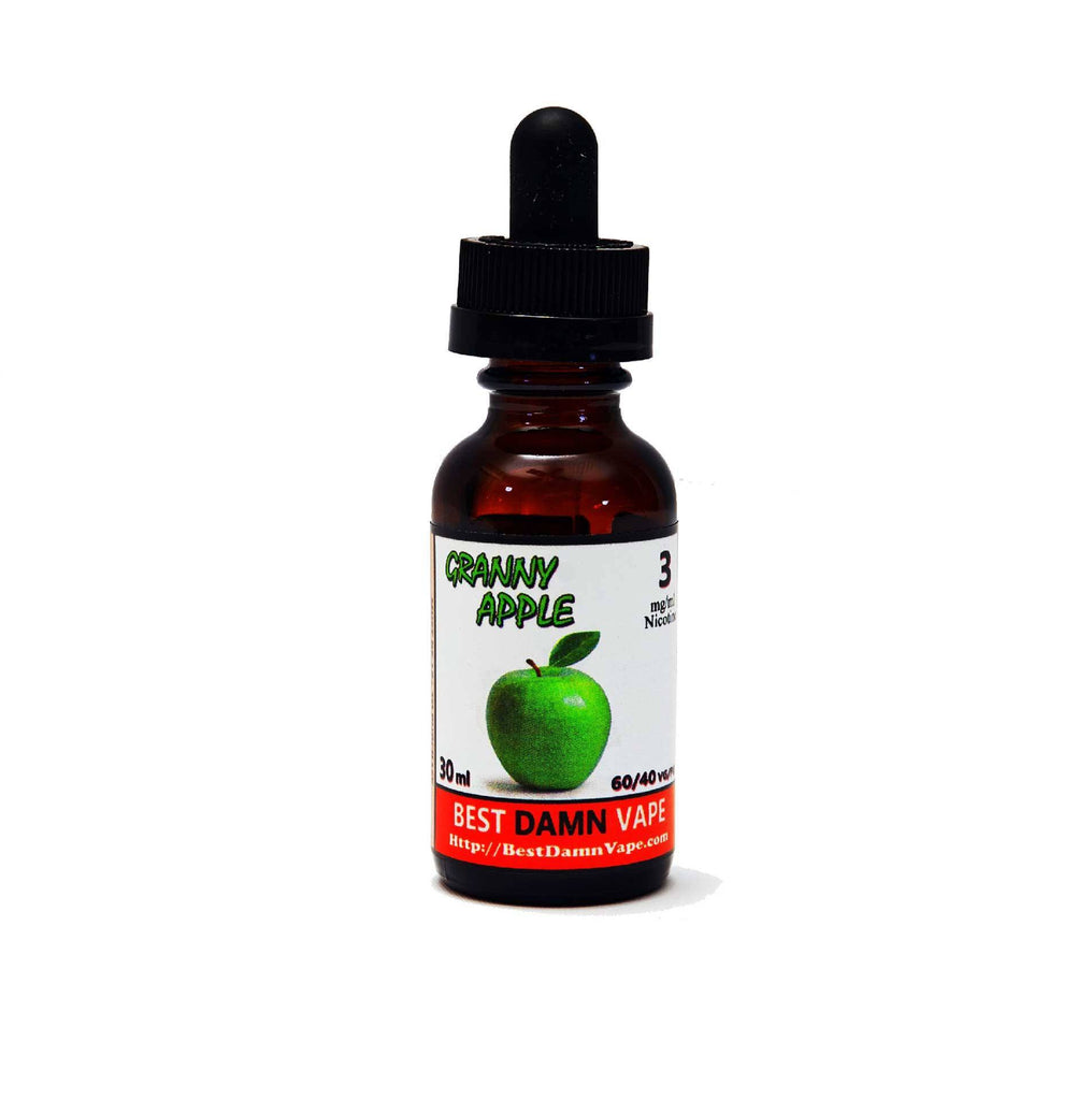 Overstock 0mg Granny Apple E-Liquid - Best Damn Vape - 1