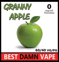 Overstock 0mg Granny Apple E-Liquid - Best Damn Vape - 3