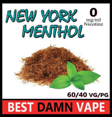 Overstock 18mg New York Menthol E-Liquid - Best Damn Vape - 2