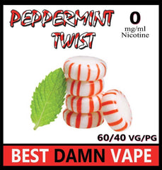 Overstock 12mg Peppermint Twist E-Liquid - Best Damn Vape - 3