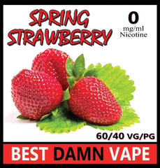 Overstock 12mg Spring Strawberry E-Liquid - Best Damn Vape - 3