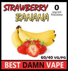 Overstock 12mg Strawberry Banana E-Liquid - Best Damn Vape - 3
