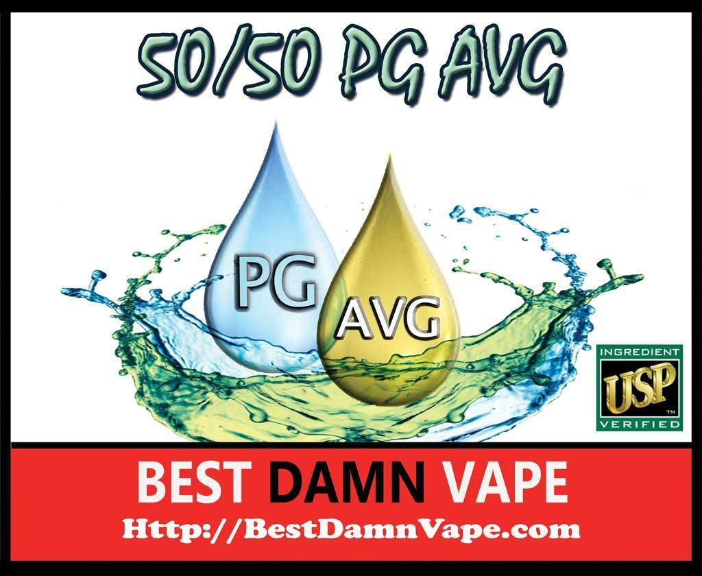50/50 Aqueous USP VG and USP PG - Best Damn Vape