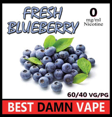 Fresh Blueberry E-Liquid - Best Damn Vape - 3