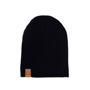 Black Knit Beanie by Beau Hudson