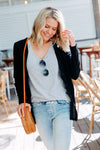 Signature Jet Black Cardigan - Womens by Beau Hudson