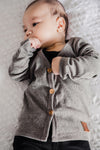 Dark Grey Marle Signature Cardigan for Babies newborn