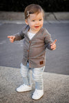 Dark Grey Marle Signature Cardigan for Babies 2