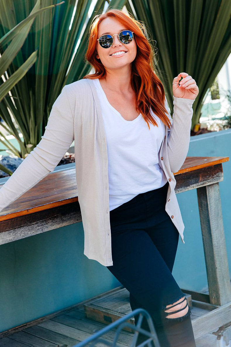 Signature Latte Cardigan - Women by Beau Hudson