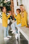 Shop Mustard Cardigan for Kids by BEAU HUDSON - a