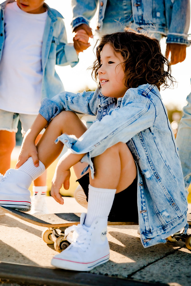 Distressed Denim Jacket - Kids