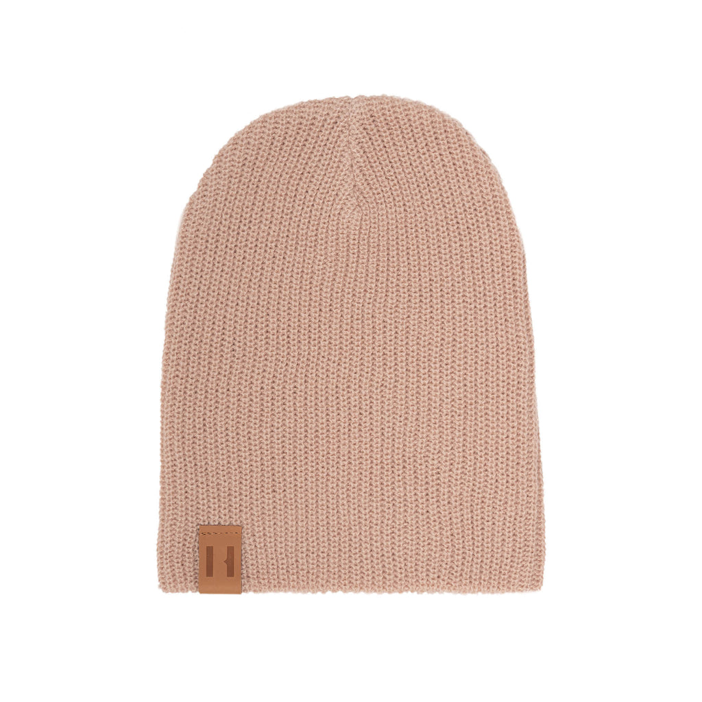 Dusty Pink Knit Beanie by Beau Hudson