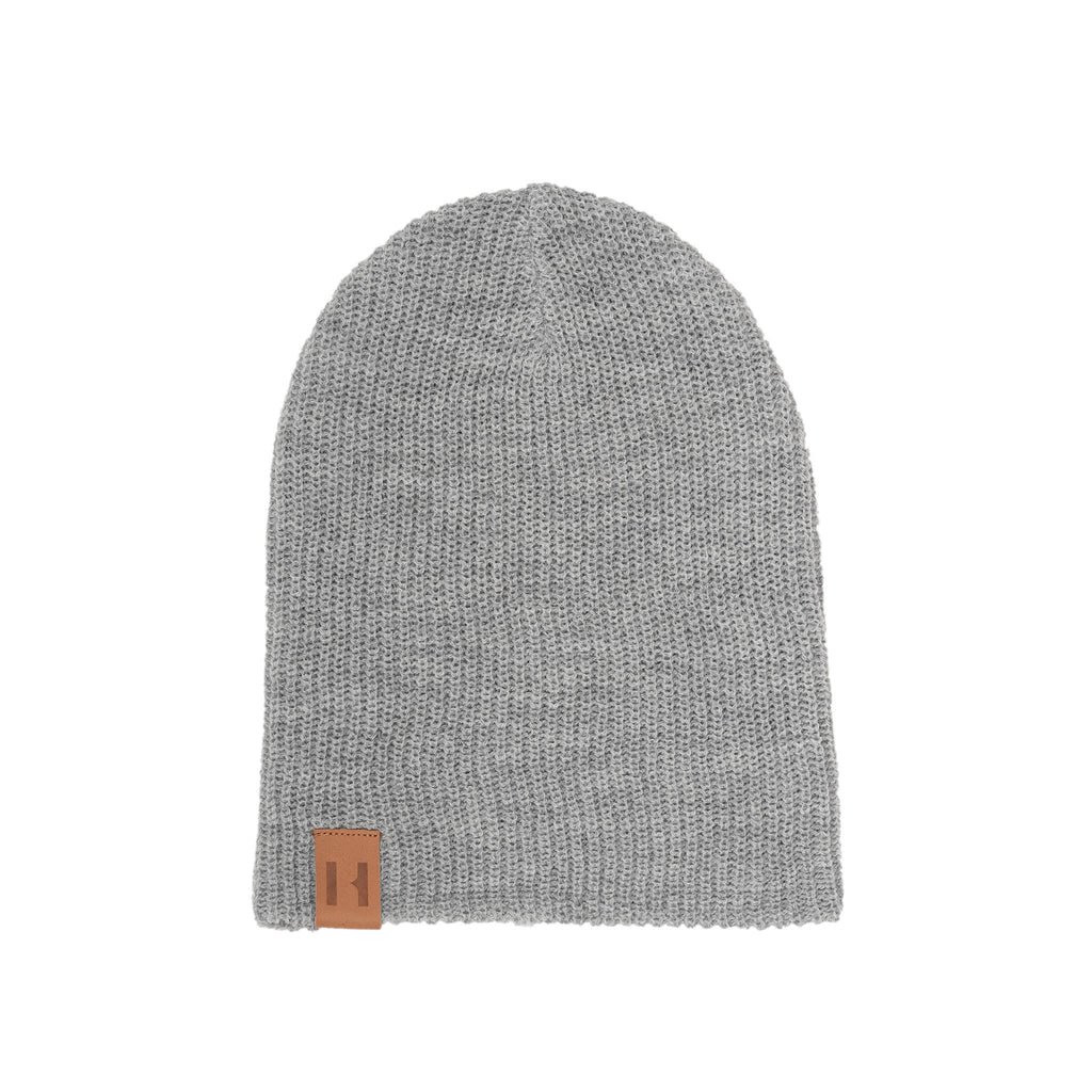 Grey Marle Knit Beanie by Beau Hudson