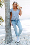 Blue Non-Distressed Denim Jeans for Women