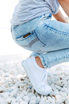 Blue Non-Distressed Denim Jeans for Women 2