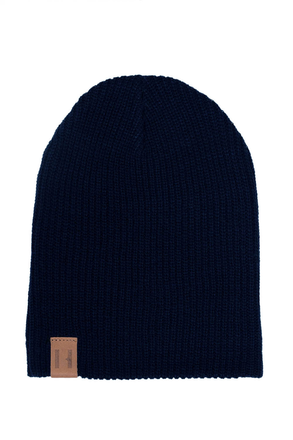 Navy Knit Beanie by BEAU HUDSON