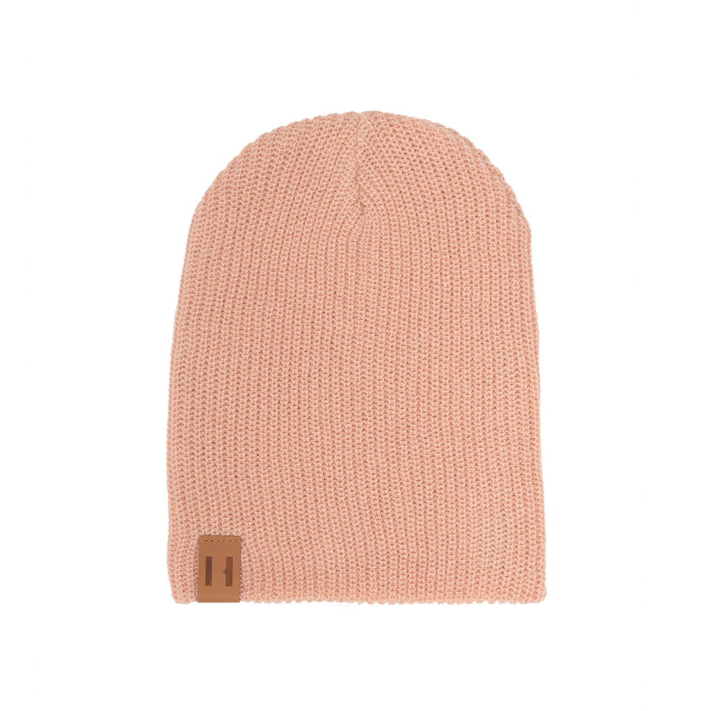 Musk Pink Knit Beanie by Beau Hudson