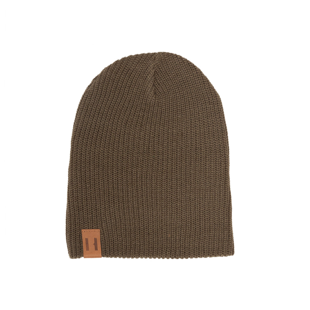 Olive Knit Beanie by Beau Hudson