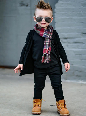 Signature Jet Black Cardigan - Kids by Beau Hudson 6