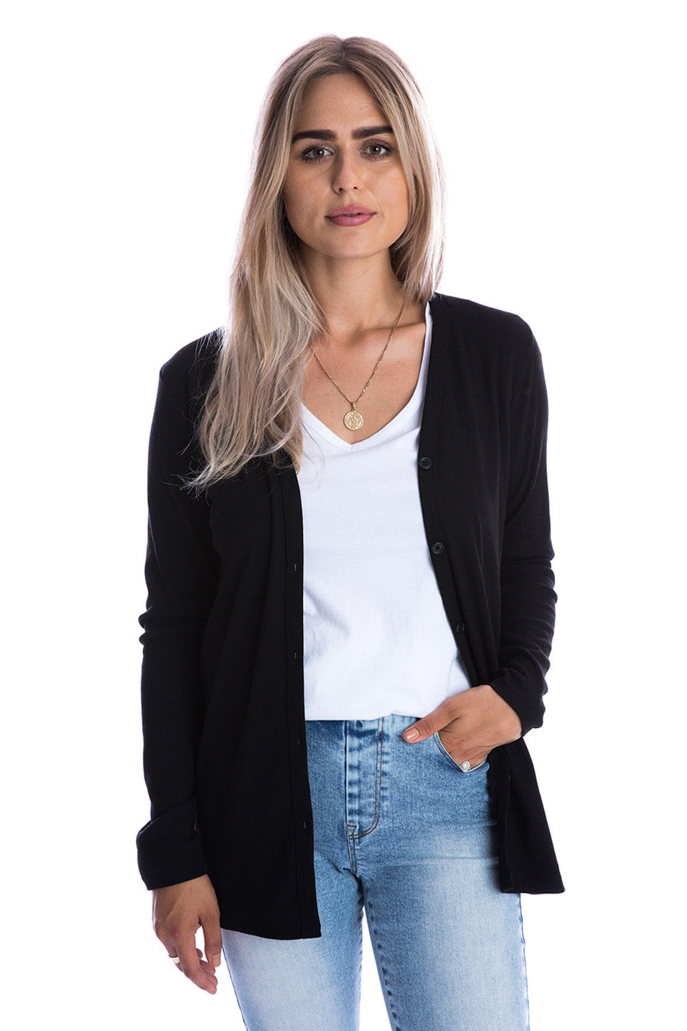 Jet Black Signature Cardigan - Adults
