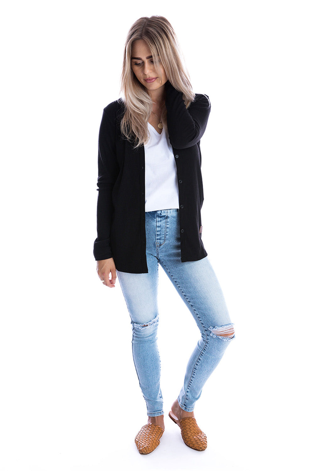 Signature Jet Black Cardigan - Womens by Beau Hudson 2