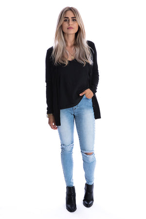 Signature Jet Black Cardigan - Womens by Beau Hudson 7
