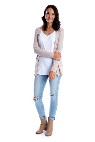 Latte women's cardigan