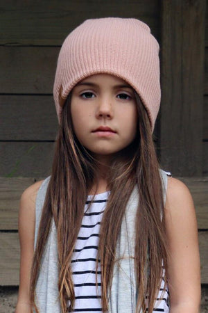 Musk Pink Knit Beanie by Beau Hudson 7