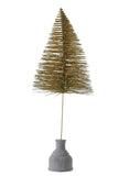 Gold Glitter Brush Tree
