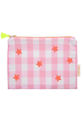 Pink & Neon Gingham Pouch