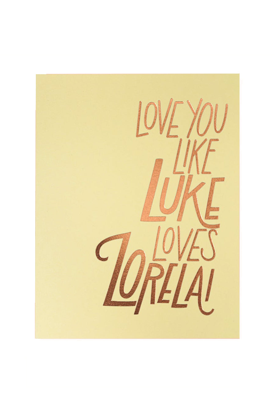 Luke + Lorelai Card