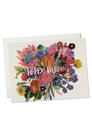Happy Wedding Foil Card