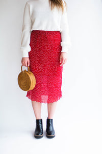 Dotted Assemblage Skirt
