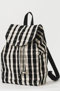Plaid Drawstring Backpack
