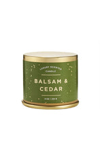 Load image into Gallery viewer, Balsam & Cedar Tin Candle