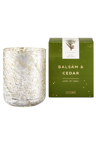 Small Luxe Sanded Mercury Glass Candle