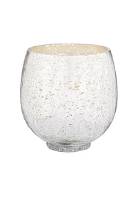 Holiday Shine Crackle Glass Candle | Balsam & Cedar