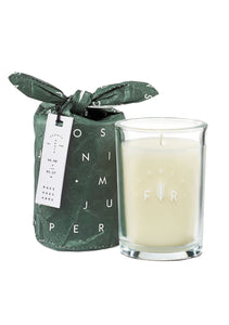 Bundled Glass Candle | Juniper Moss