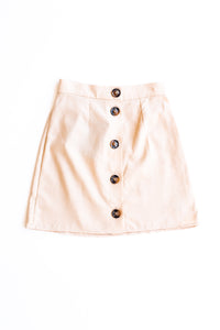 Suburban Button Front Skirt