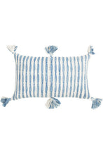 Load image into Gallery viewer, Antigua Faded Indigo Pillow