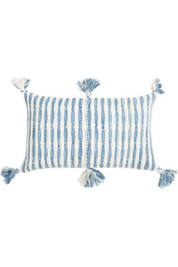 Antigua Faded Indigo Pillow
