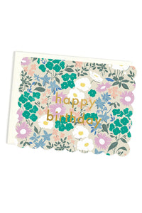 Scalloped Floral Birthday Card