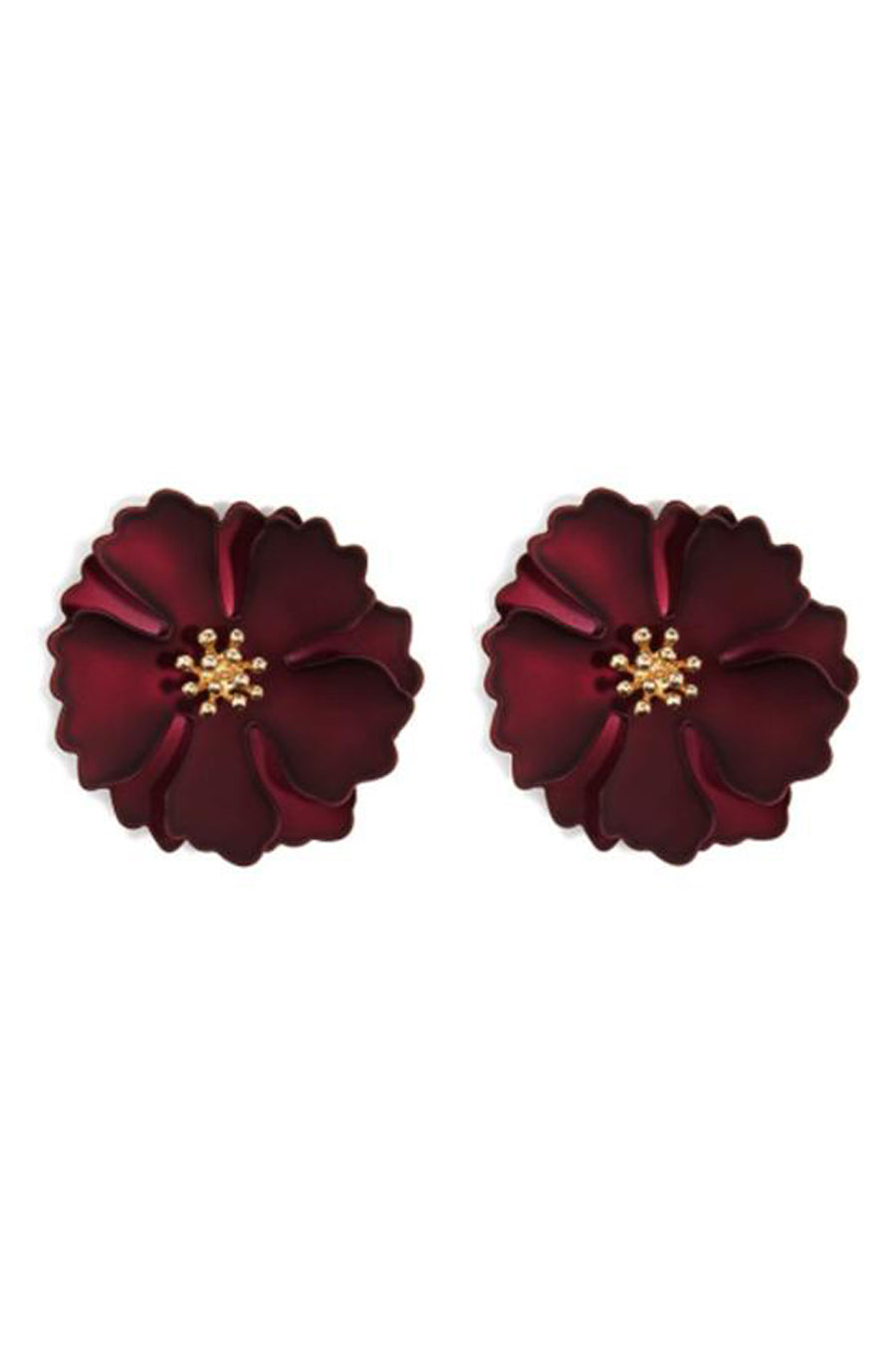 Stella Metallic Flower Petal Earrings