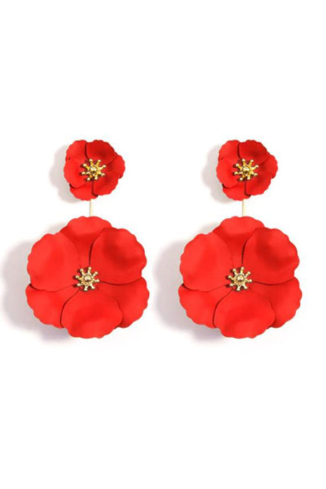 Flower Ear Jacket Statement Earrings