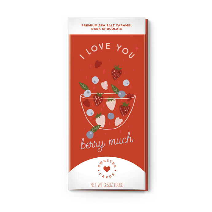 I Love You Berry Much | Sea Salt Caramel Dark Chocolate