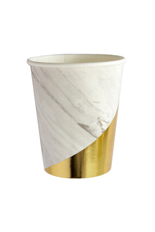 Blanc White Marble Paper Cups