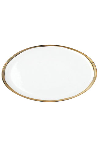 Large Platter with Gilded Rim